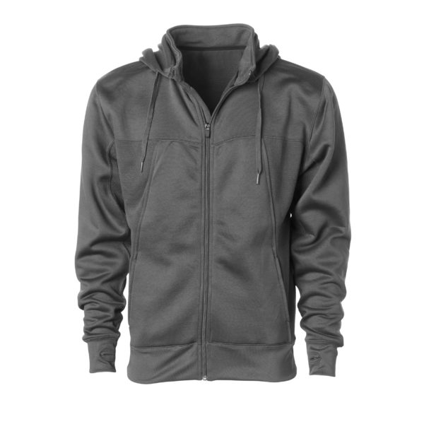 MEN POLY-TECH ZIP HOODED SWEATSHIRT (2)