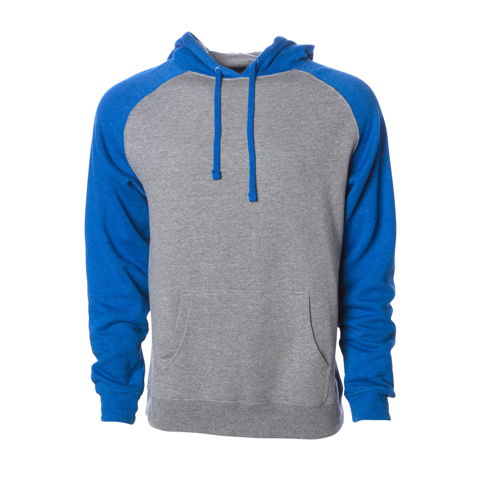 RAGLAN HOODED PULLOVER SWEATSHIRT